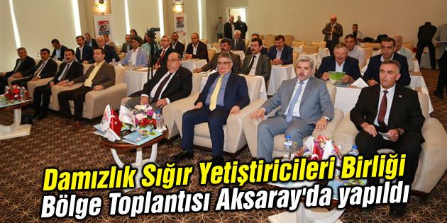 Damızlık Sığır Yetiştiricileri Birliği Bölge Toplantısı Aksaray'da yapıldı
