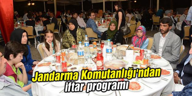 Jandarma Komutanlığı'ndan iftar programı