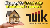 Aksaray'da Haziran ayı konut satış istatistikleri açıklandı