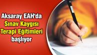 Aksaray EAH'da Sınav Kaygısı Terapi Eğitimleri başlıyor