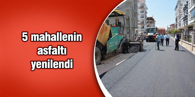 5 mahallenin asfaltı yenilendi
