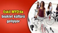 Eskil MYO'da bisiklet kültürü gelişiyor