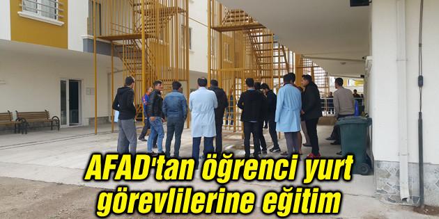 AFAD'tan öğrenci yurt görevlilerine eğitim
