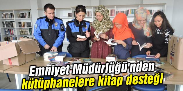 Emniyet Müdürlüğü'nden kütüphanelere kitap desteği