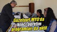 Güzelyurt MYO'da ikinci öğretim programları da aktif