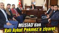 MÜSİAD'dan Vali Aykut Pekmez'e ziyaret