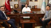 Emre Ülgen, yeni klibi için Başkan Yazgı'yı ziyaret etti