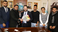 Yemenli öğrenciler Başkan Yazgı'yı ziyaret etti