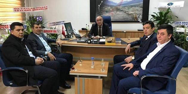 Altınsoy'dan Tapu Müdürü Alıcı'ya hayırlı olsun ziyareti