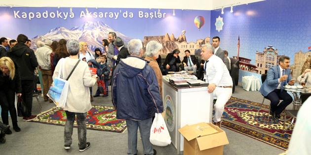 Turizm Fuarı'nda Aksaray'ın standını binlerce kişi ziyaret etti
