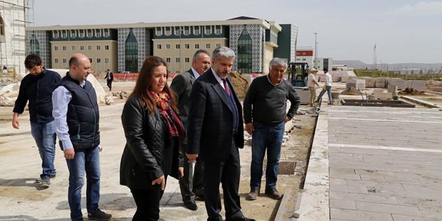 ASÜ'nün yeni kütüphane inşaatı hızla ilerliyor