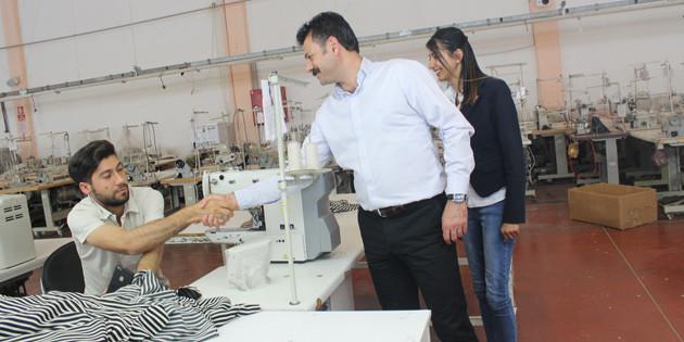 CHP adayları tekstil işçileri ile bir araya geldi