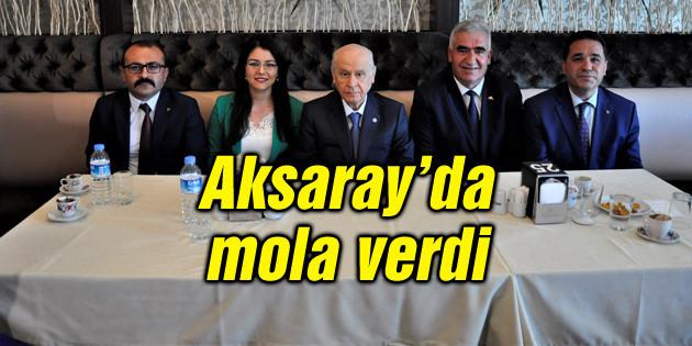 MHP Genel Başkanı Devlet Bahçeli Aksaray'da mola verdi