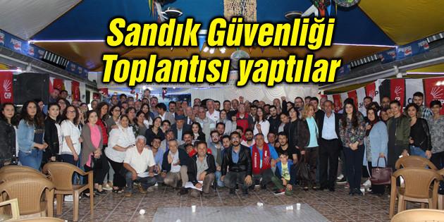 CHP Sandık Güvenliği Toplantısı yaptı