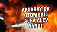 Kaza yapan otomobil alev alev yandı!