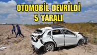 Adana yolunda otomobil devrildi: 5 yaralı