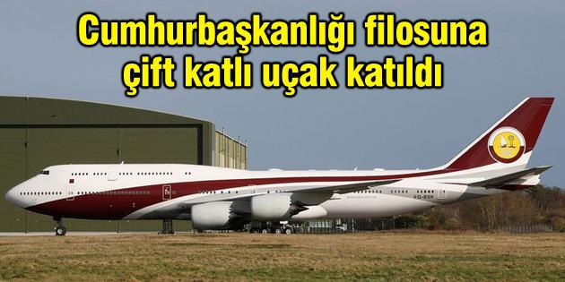 Cumhurbaşkanlığı filosuna çift katlı uçak katıldı
