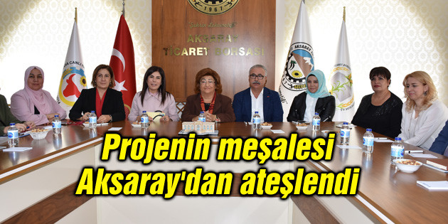 Projenin meşalesi Aksaray'dan ateşlendi