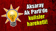 Aksaray Ak Parti'de kulisler hareketli!