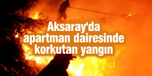 Aksaray'da ev yangını: 5 yaralı