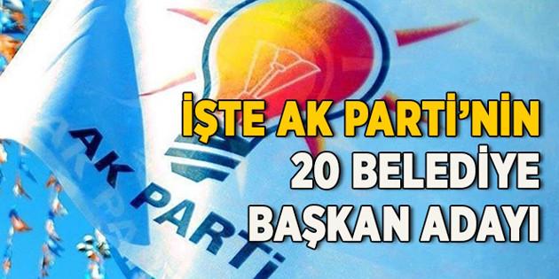 Ak Parti'de 20 ilin adayı daha açıklandı
