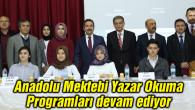 Anadolu Mektebi Yazar Okuma Programları devam ediyor
