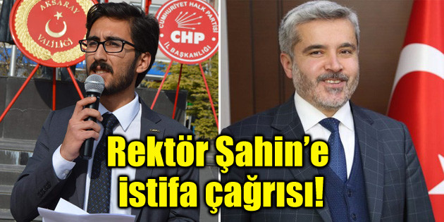 ASÜ Rektörü Yusuf Şahin'e istifa çağrısı!