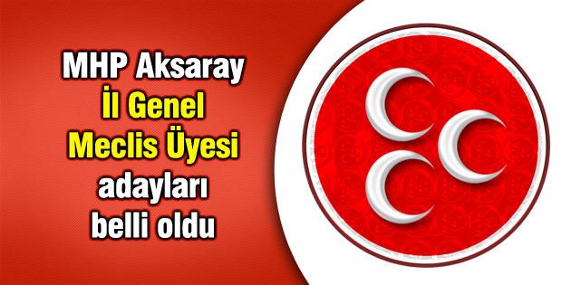 MHP Aksaray İl Genel Meclis Üyesi adayları