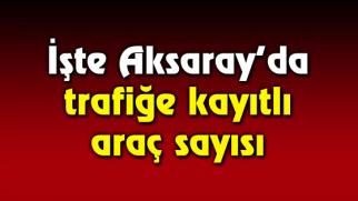 Aksaray'da trafiğe kayıtlı araç sayısı artıyor!