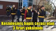 Kesinleşmiş hapis cezası olan 3 firari yakalandı