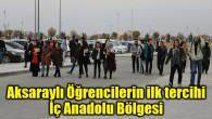 Aksaraylı Öğrencilerin ilk tercihi İç Anadolu Bölgesi