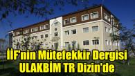 İİF'nin Mütefekkir Dergisi, ULAKBİM TR Dizin'de