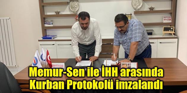 Memur-Sen ile İHH arasında Kurban Protokolü imzalandı