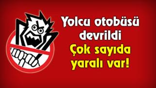 Aksaray'da yolcu otobüsü devrildi: 30 yaralı!