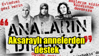 Aksaraylı annelerden Diyarbakır annelerinin direnişine destek