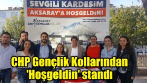 CHP Gençlik Kollarından 'Hoşgeldin' standı