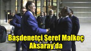 Başdenetçi Şeref Malkoç, ASÜ'de il protokolüyle buluştu