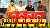 Barış Pınarı Harekâtı'na Aksaray'dan anlamlı destek