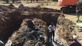 Nurgöz Köyü yerüstü sulama tesisi tamamlandı