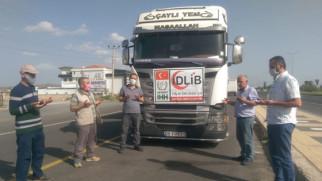 İdlib'e 24'üncü iyilik tırı gönderildi