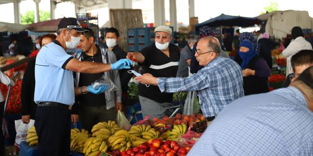 Aksaray Belediyesi normalleşme sürecinde tedbirlerini sürdürüyor
