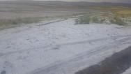 Aksaray'da dolu yağışı ekili alanlara zarar verdi!