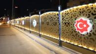 Dekoratif ışıklandırmalar şehre estetik bir görünüm kazandırdı