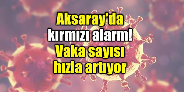 Aksaray'da kırmızı alarm! Vaka sayısı hızla artıyor