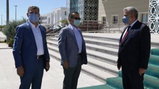 Aydoğdu ve Altınsoy, Rektör Şahin'i ziyaret etti