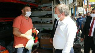 Aksaray'da KOVİD-19 tedbirleri denetimi yapıldı