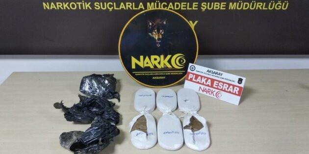 Aksaray'da esrarla yakalanan şahıs tutuklandı!