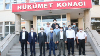 Ak Parti heyetinden Ortaköy'de bir dizi ziyaret