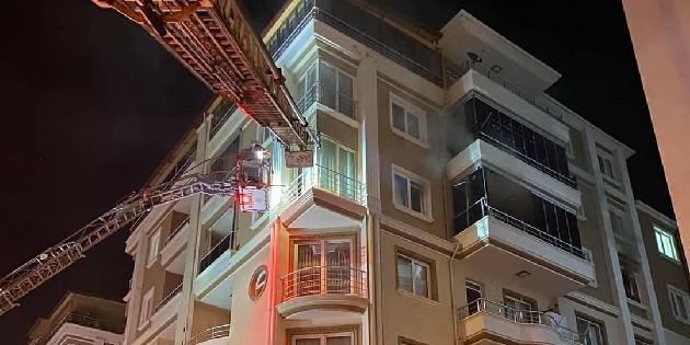 Aksaray'da ev yangını kısa sürede söndürüldü