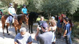 'Atlı jandarma' timleri turistlerin gözdesi oldu